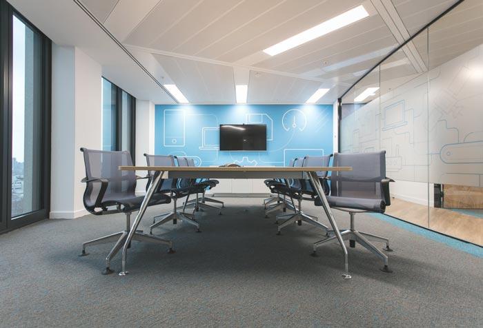 IT公司办公室会议室装修设计案例效果图