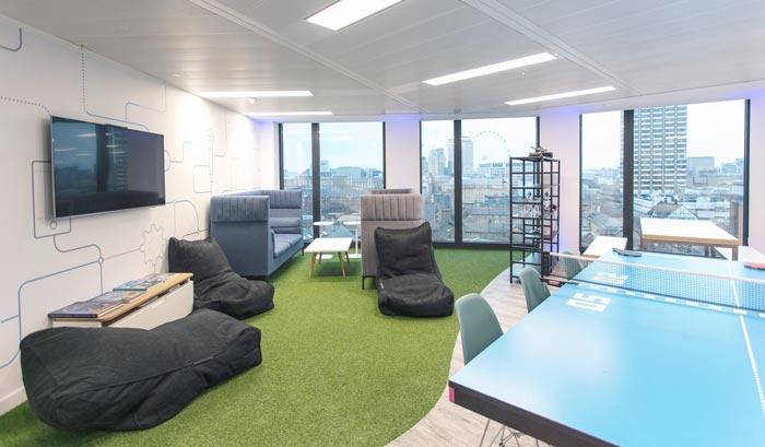IT公司办公室休息区域装修设计案例效果图