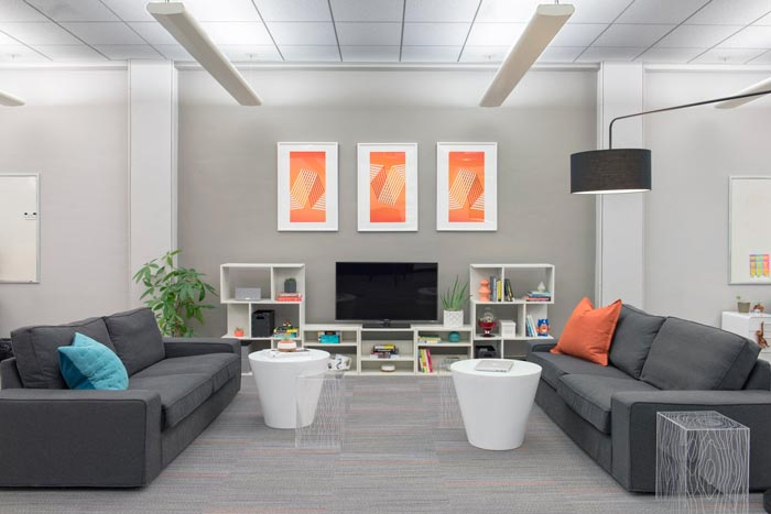 广告公司办公室茶水间装修设计案例效果图
