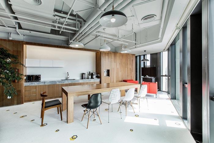 传媒公司办公室茶水间装修设计案例效果图