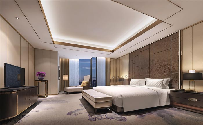 连锁商务酒店客房B型装修设计案例效果图