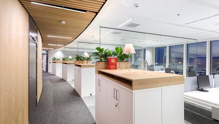 养生项目_金融公司办公室装修设计案例效果图_岚禾装饰设计