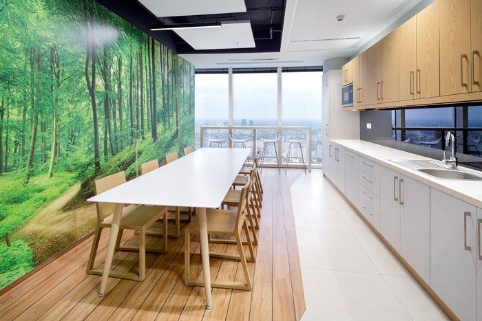金融公司办公室茶水间装修设计案例效果图