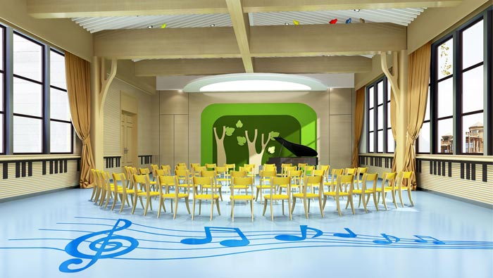 国际双语幼儿园音体室装修设计案例