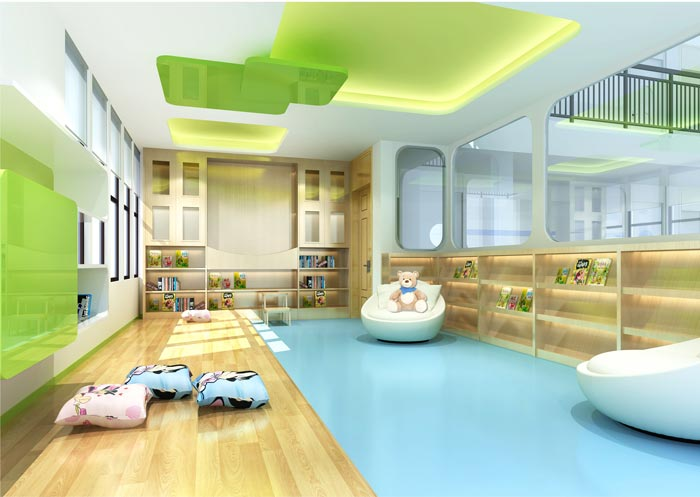 国际双语幼儿园阅览室装修设计案例