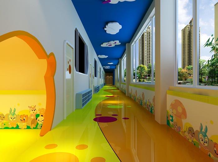 幼儿教育机构走廊装修设计案例