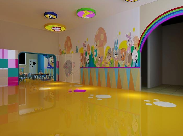 幼儿教育机构大厅装修设计案例