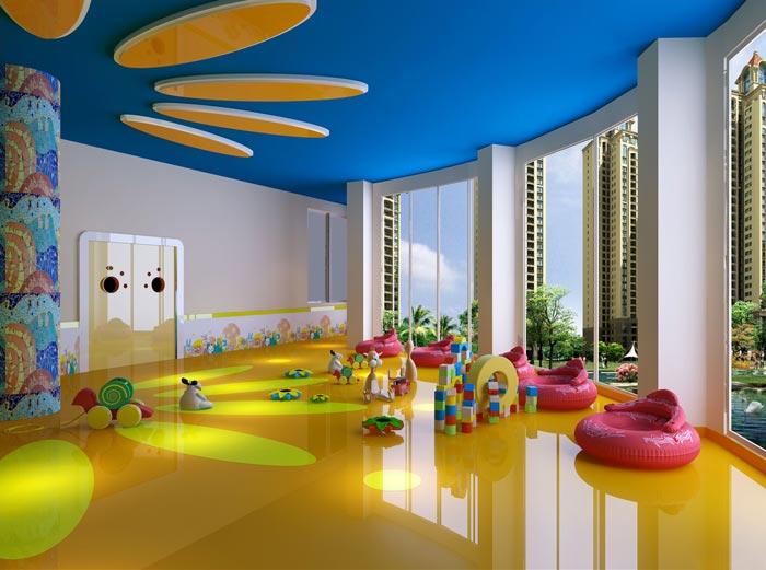幼儿教育机构观景区装修设计案例