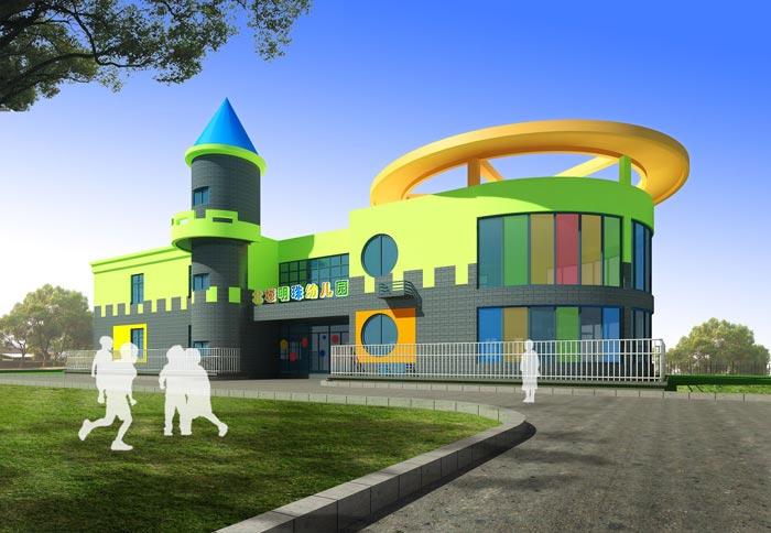 高端幼儿园外立面装修设计案例