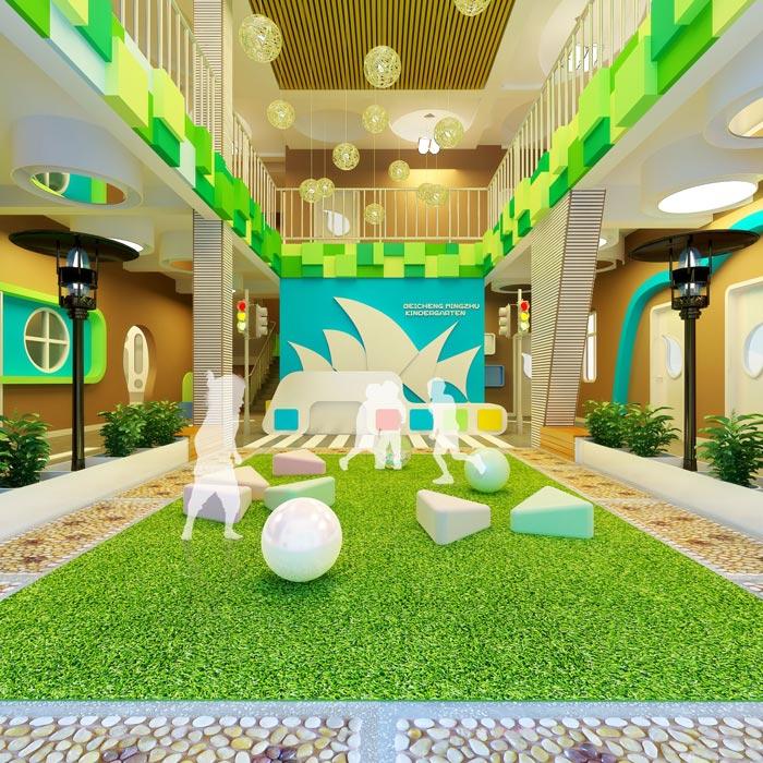 高端幼儿园大厅装修设计案例