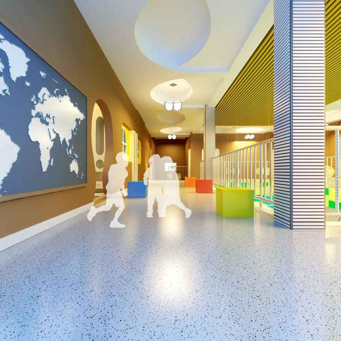 高端幼儿园二楼玩耍区域装修设计案例