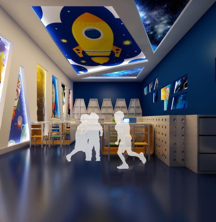 高端幼儿园科幻教室装修设计案例