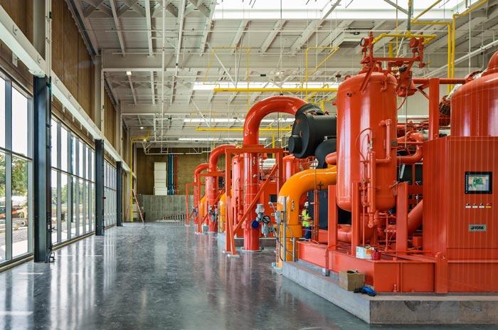能源厂房厂区装修设计楼梯案例效果图