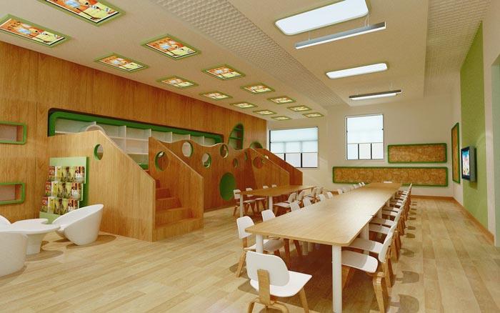 现代简约幼儿园餐桌装修设计案例