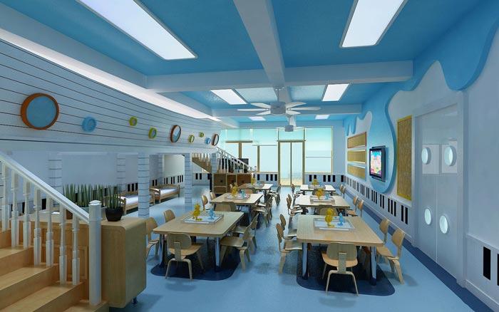 现代简约幼儿园教室装修设计案例