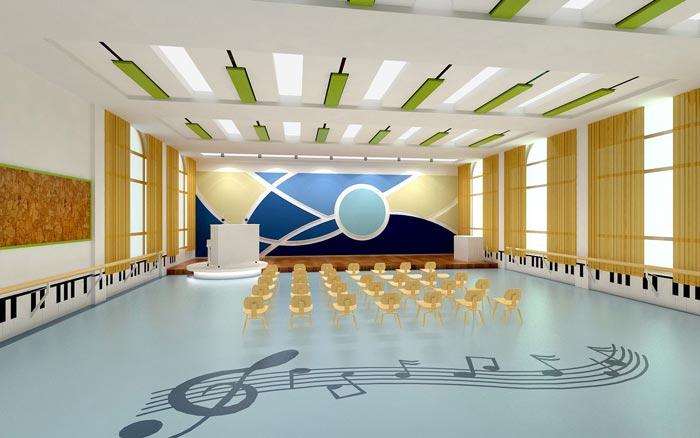 现代简约幼儿园音乐教室装修设计案例