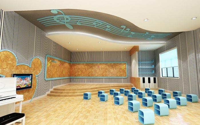现代简约幼儿园表演教室装修设计案例