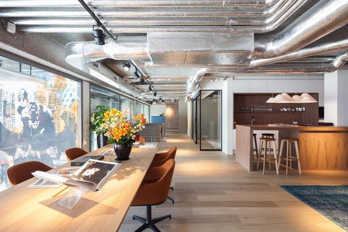 房地產開發商辦公室進門區域裝修設計案例效果圖