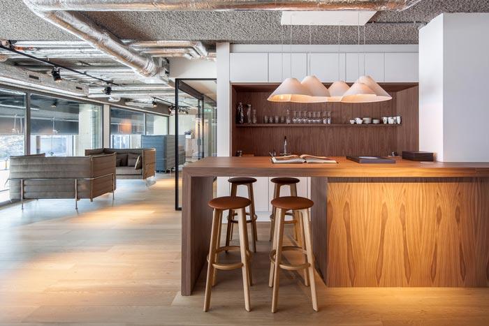 房地產開發商辦公室吧臺裝修設計案例效果圖