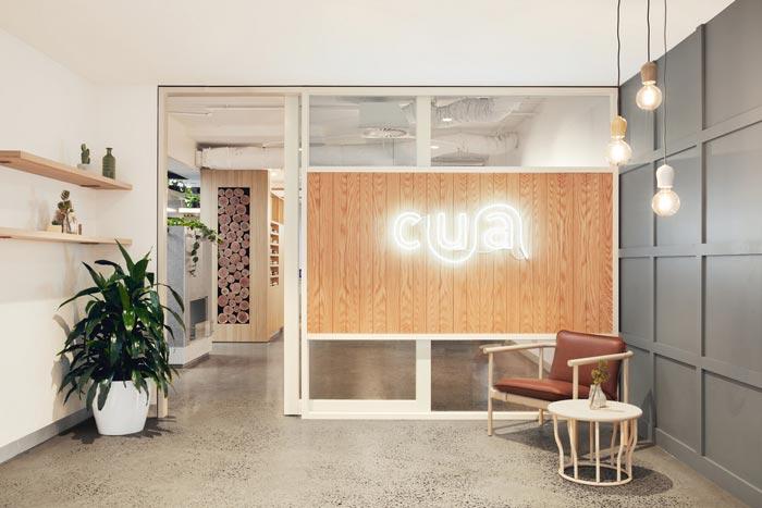 投资公司办公室前台装修设计案例效果图