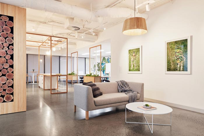 投资公司办公室动线装修设计案例效果图