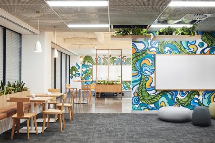 投资公司办公室休息区域装修设计案例效果图