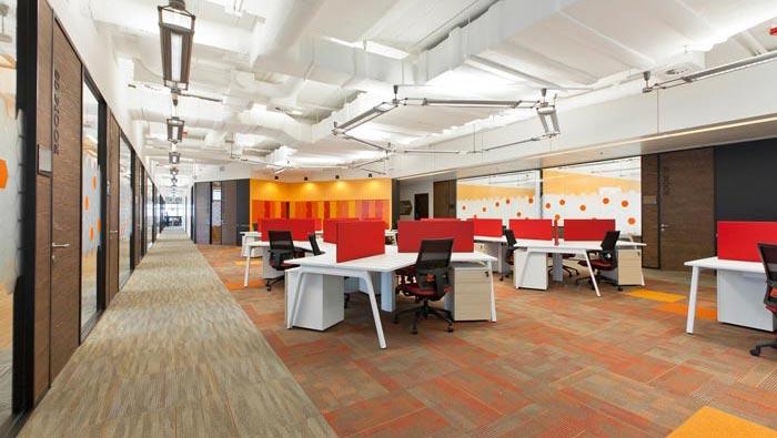 服装设计公司办公室办公区域装修设计效果图