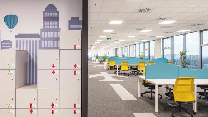 互联网旅游平台办公室装修设计效果图