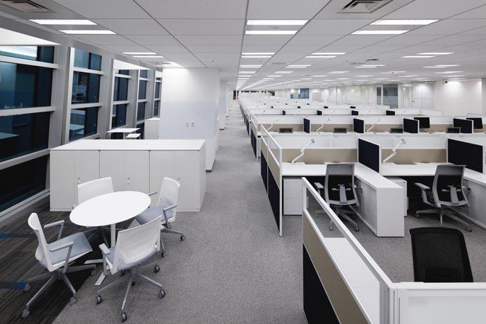 医药中心办公室办公区域装修设计案例效果图
