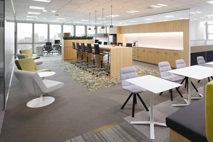 医药中心办公室茶水间装修设计案例效果图