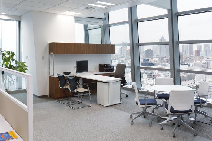 医药中心总经理办公室装修设计案例效果图