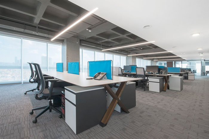 金融公司办公室办公区域装修设计案例效果图