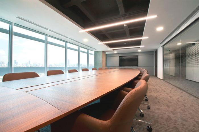 金融公司办公室会议室装修设计案例效果图