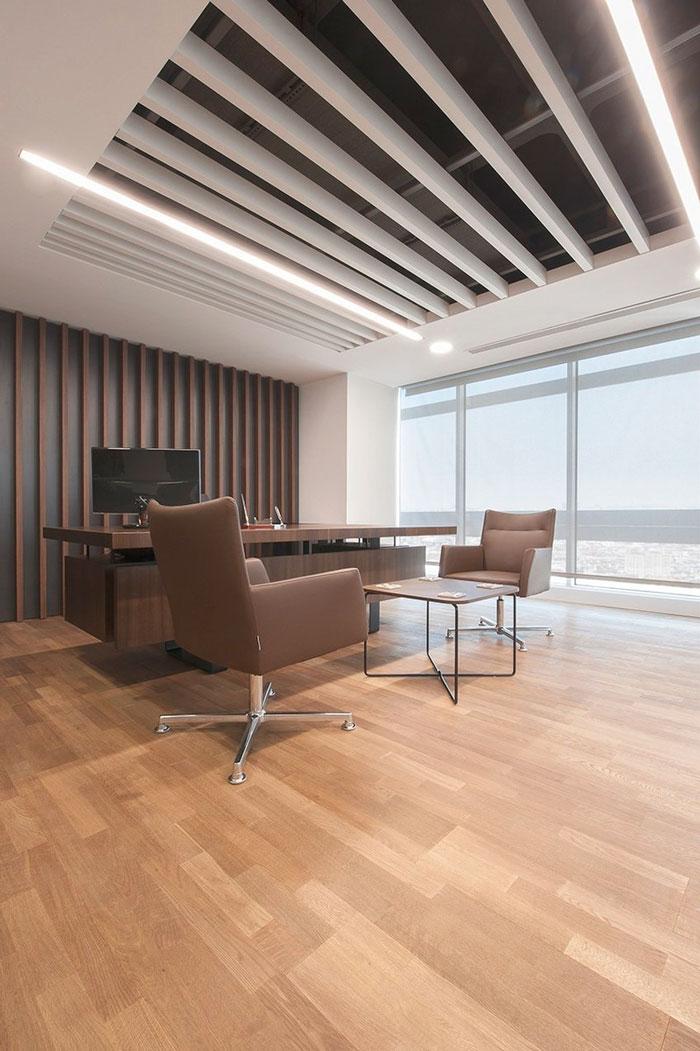 金融公司总经理办公室装修设计案例效果图