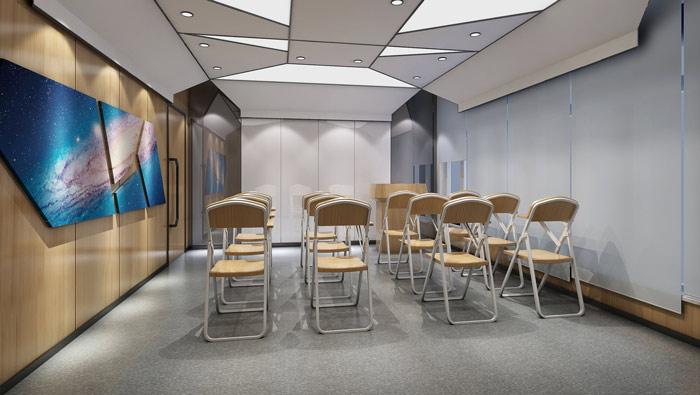 右脑开发教育机构小教室装修设计案例效果图