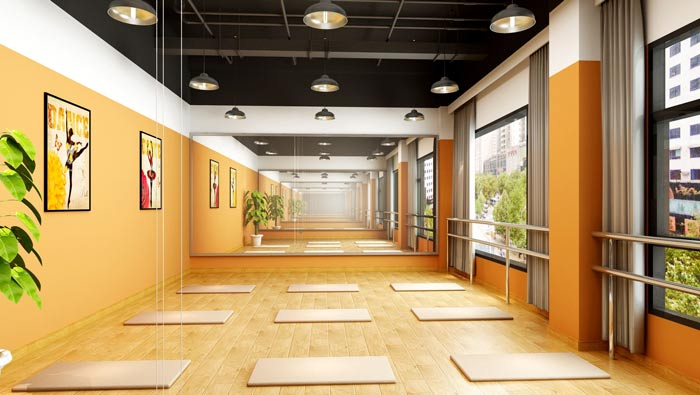 舞蹈培训机构舞蹈教室装修设计案例效果图