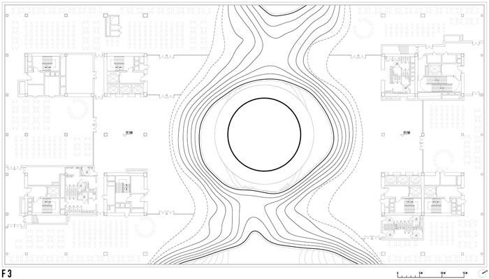 天津滨海图书馆三层平面图