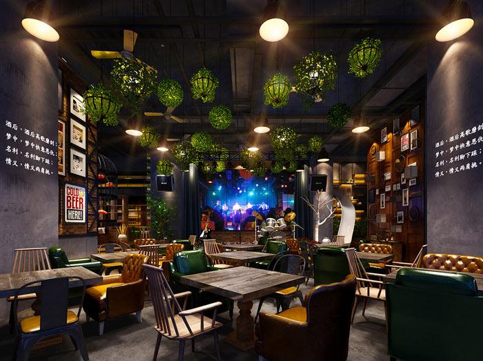 特色餐厅音乐大厅装修设计案例效果图