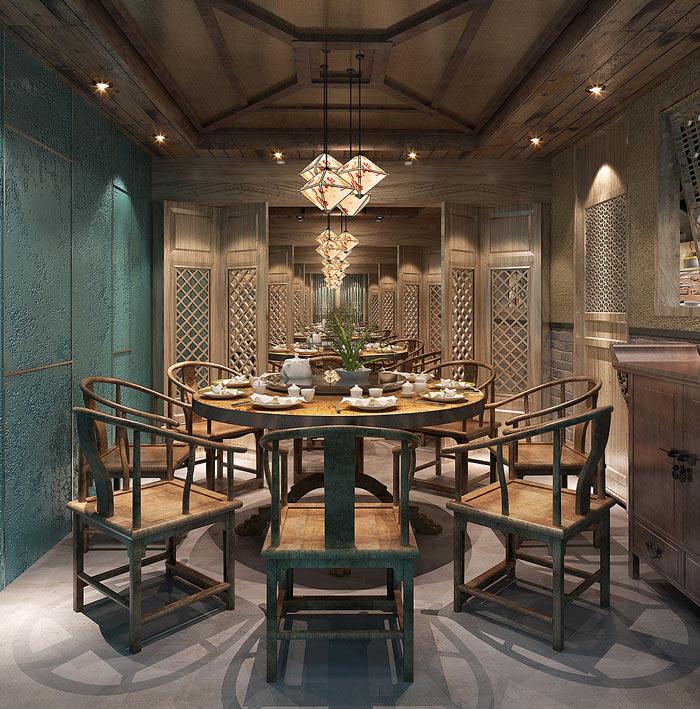 500平方餐厅特色装修设计效果图山东v餐厅建筑设计图片