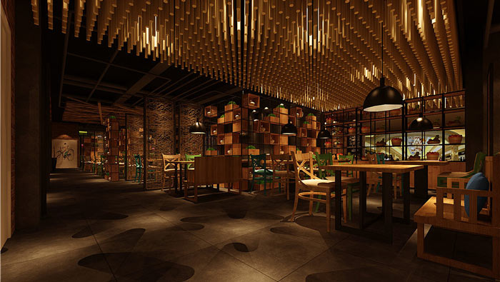 童装店店名设计图_7080主题餐厅装修设计效果图_岚禾餐厅设计