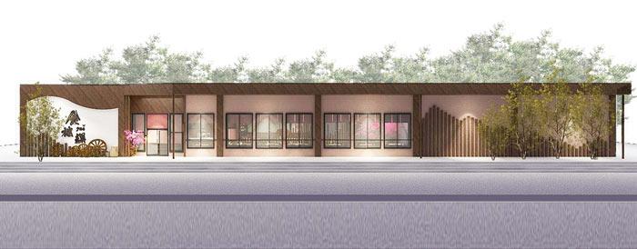 特色风味餐厅外立面装修设计效果图