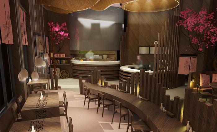特色风味餐厅餐桌装修设计效果图