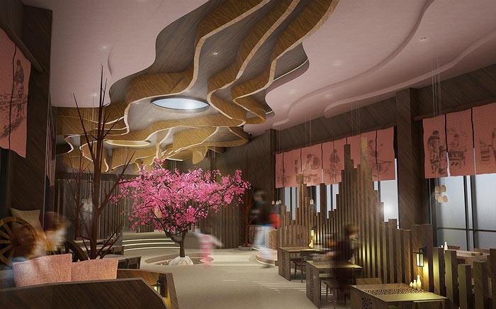 特色风味餐厅氛围装修设计效果图