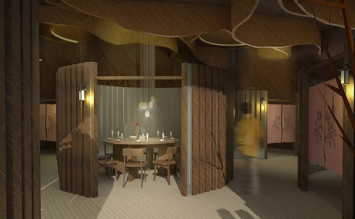特色风味餐厅包厢装修设计效果图