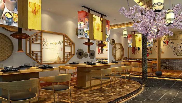 韩式特色餐厅装修设计效果图
