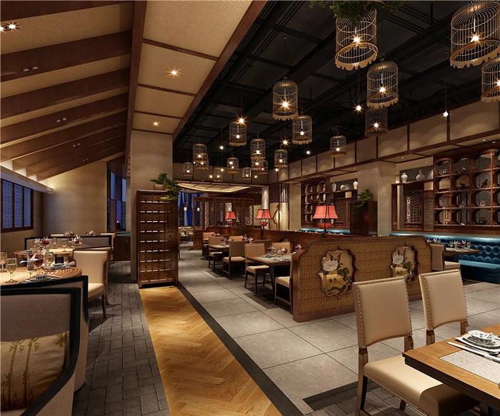 中式餐厅大厅装修设计效果图