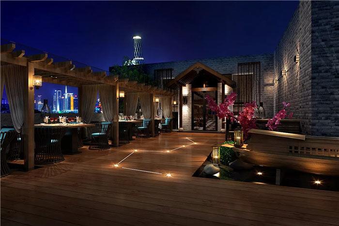 中式餐厅阳台装修设计效果图