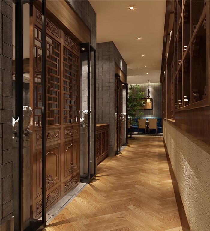 中式餐厅过道装修设计效果图