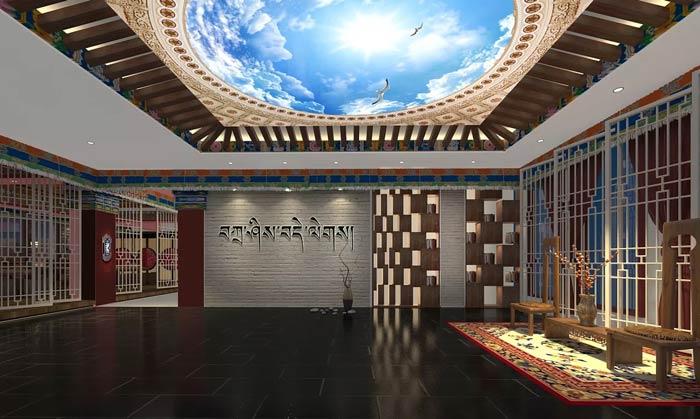 藏式主题餐厅进门区装修设计效果图