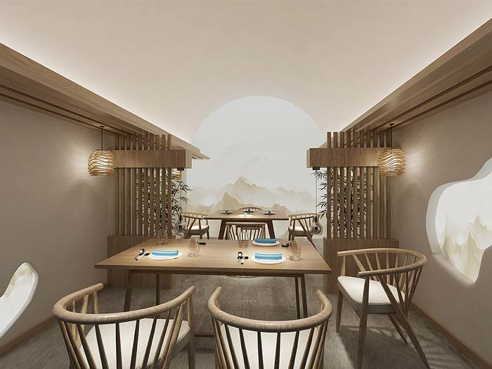 窑洞主题餐厅装修设计效果图